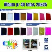 10 albuns de foto Couro / Veludo ou Glitter  20x25/ 4o fotos