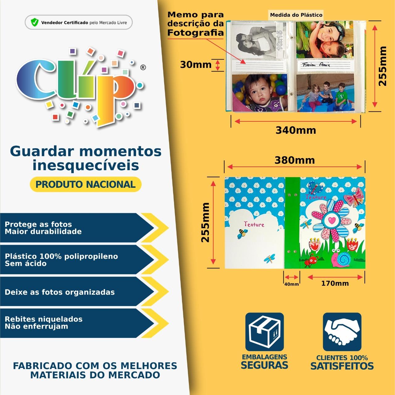 1 ALBUM DE COURO 10X15/208 FOTOS C/REBITE 8 CORES