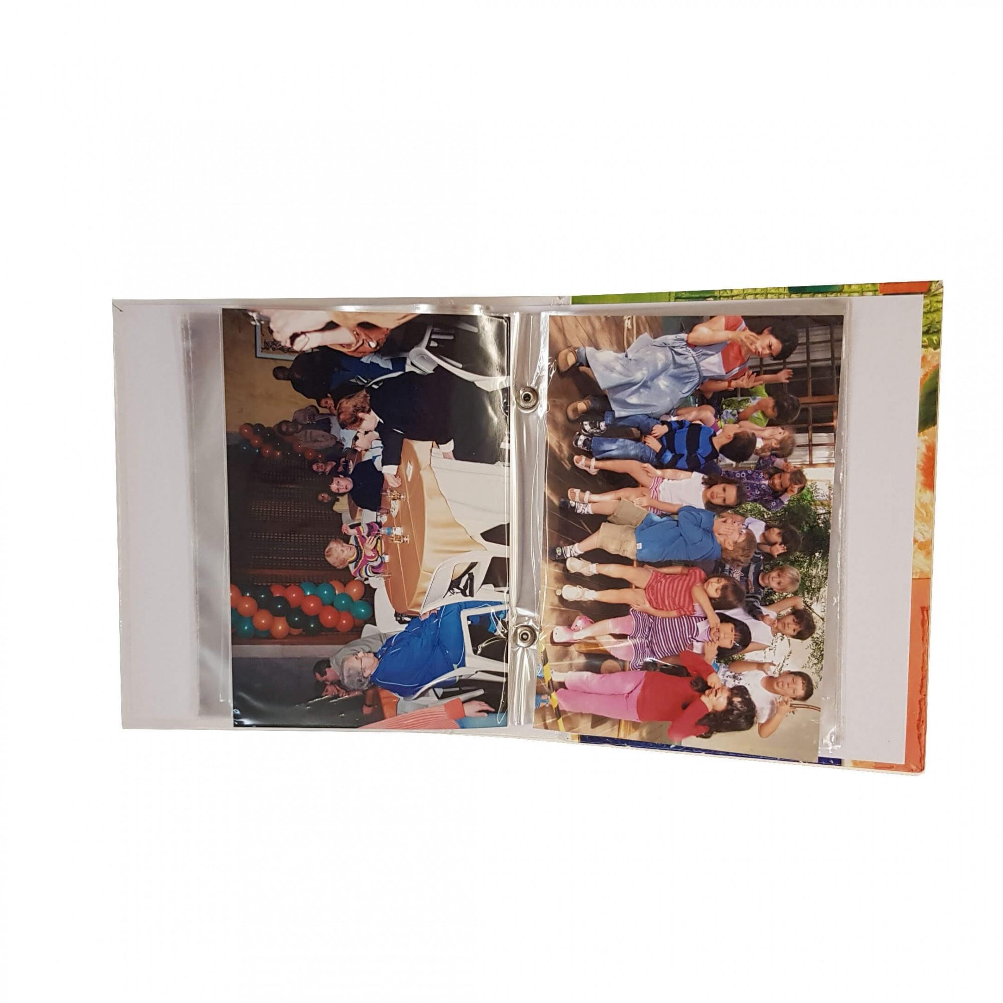 1 Álbum de fotos Fotografias  10 X15 120 Fotos BEBÊ F