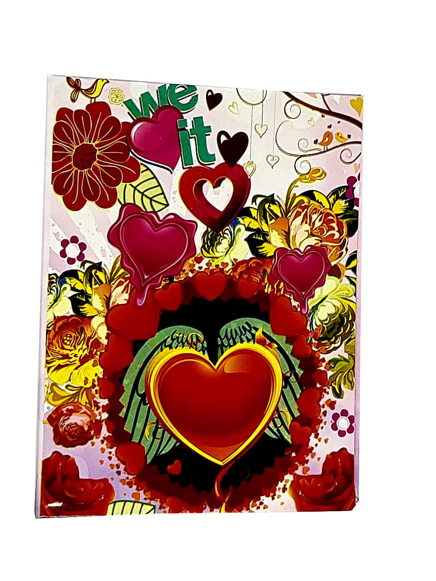 1 Álbum de fotos Fotografias  10 X15 120 Fotos Coração