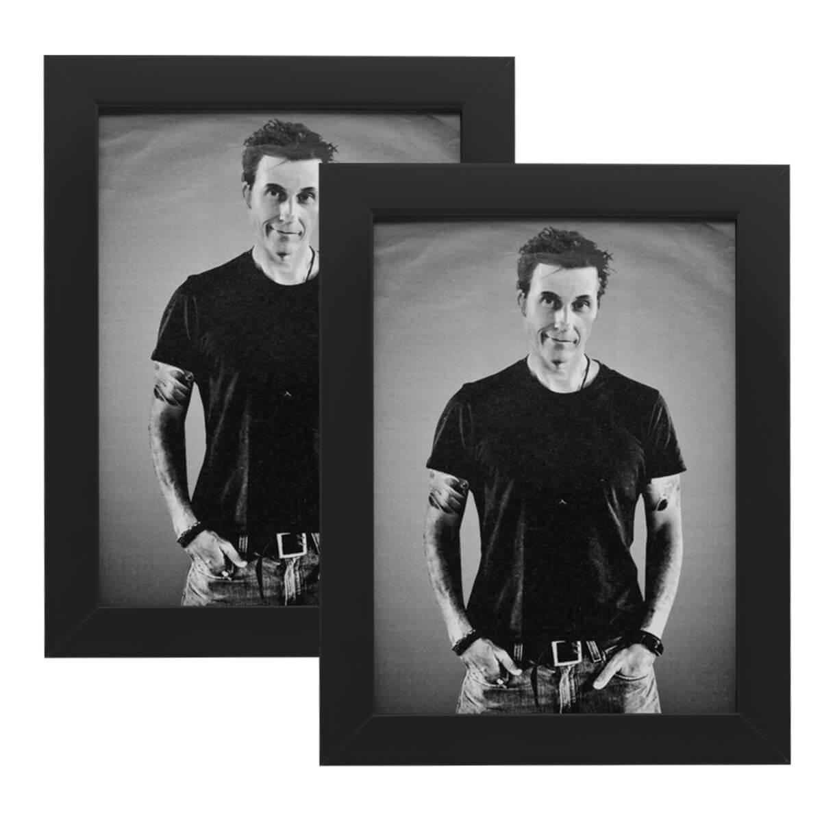 2 porta retratos 15x21 madeira maciça com vidro varias cores