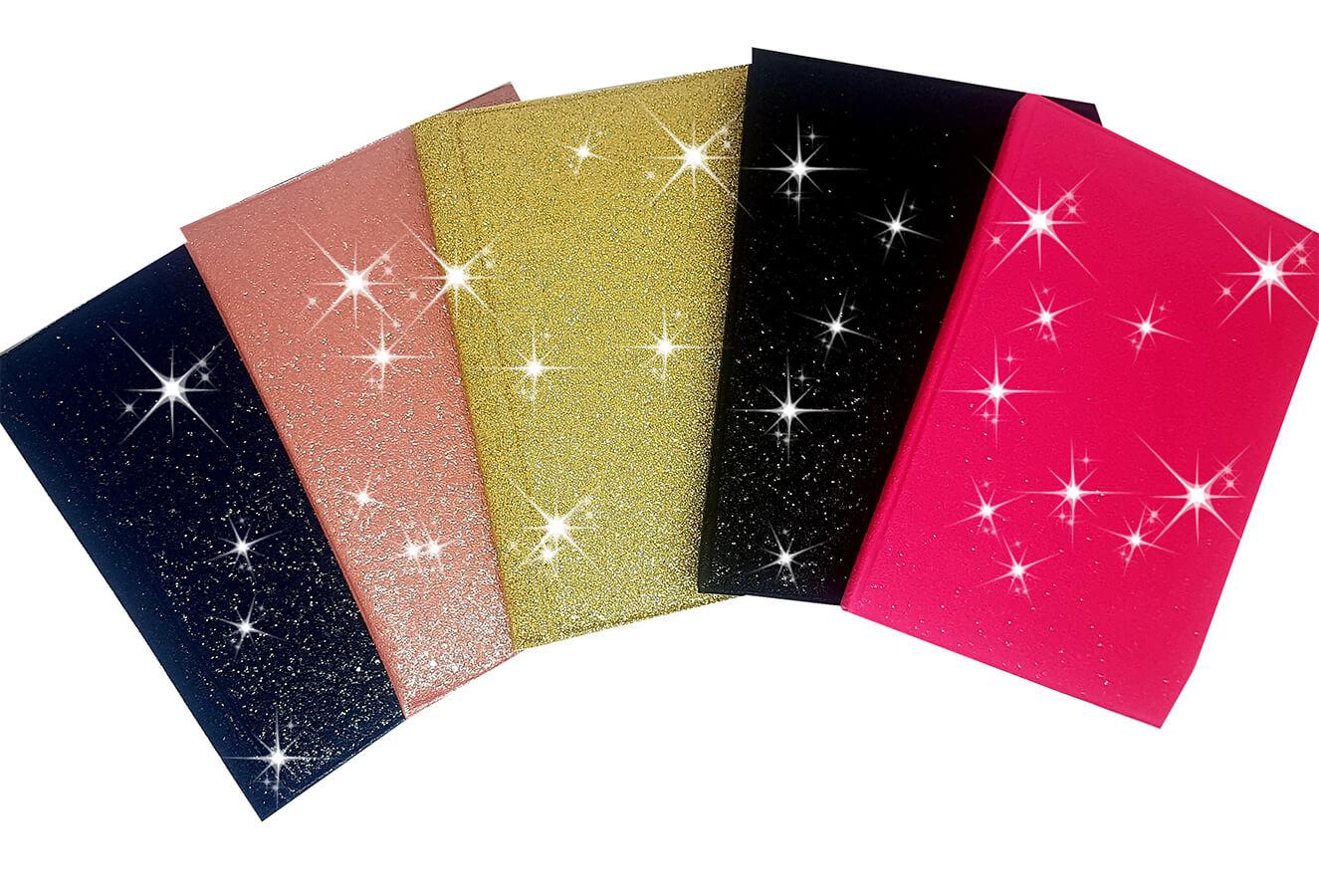 33 Albuns 15x21/40 Preto Couro Colorido Glitter Veludo
