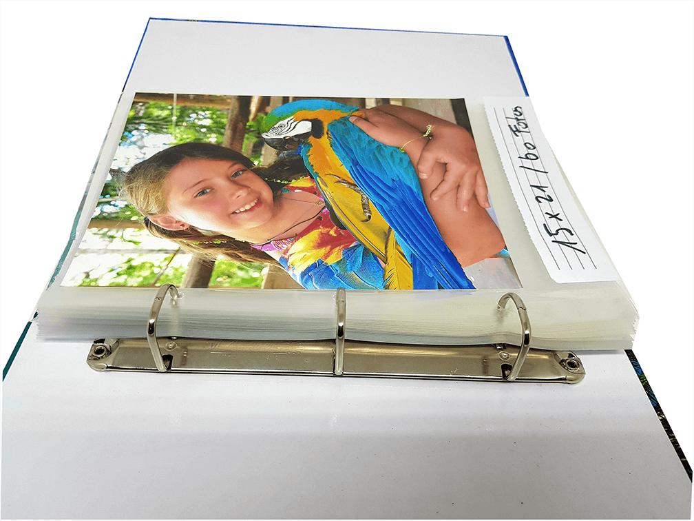 3 Albuns Luxo 10x15 Para 1000 Fotos + Refil