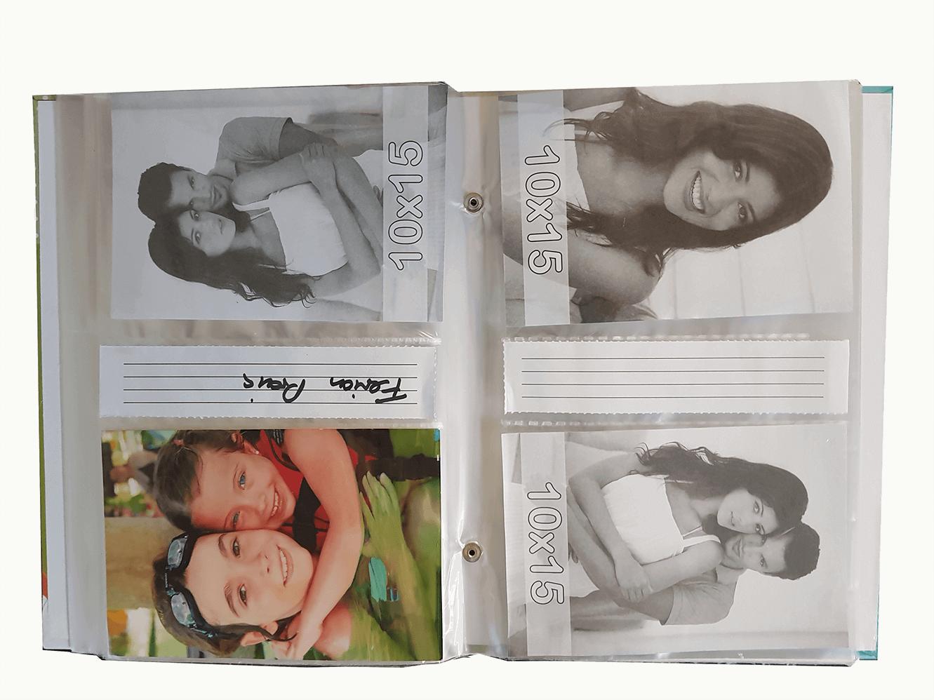 4 albuns de foto 10x15/208 fotos c/rebite