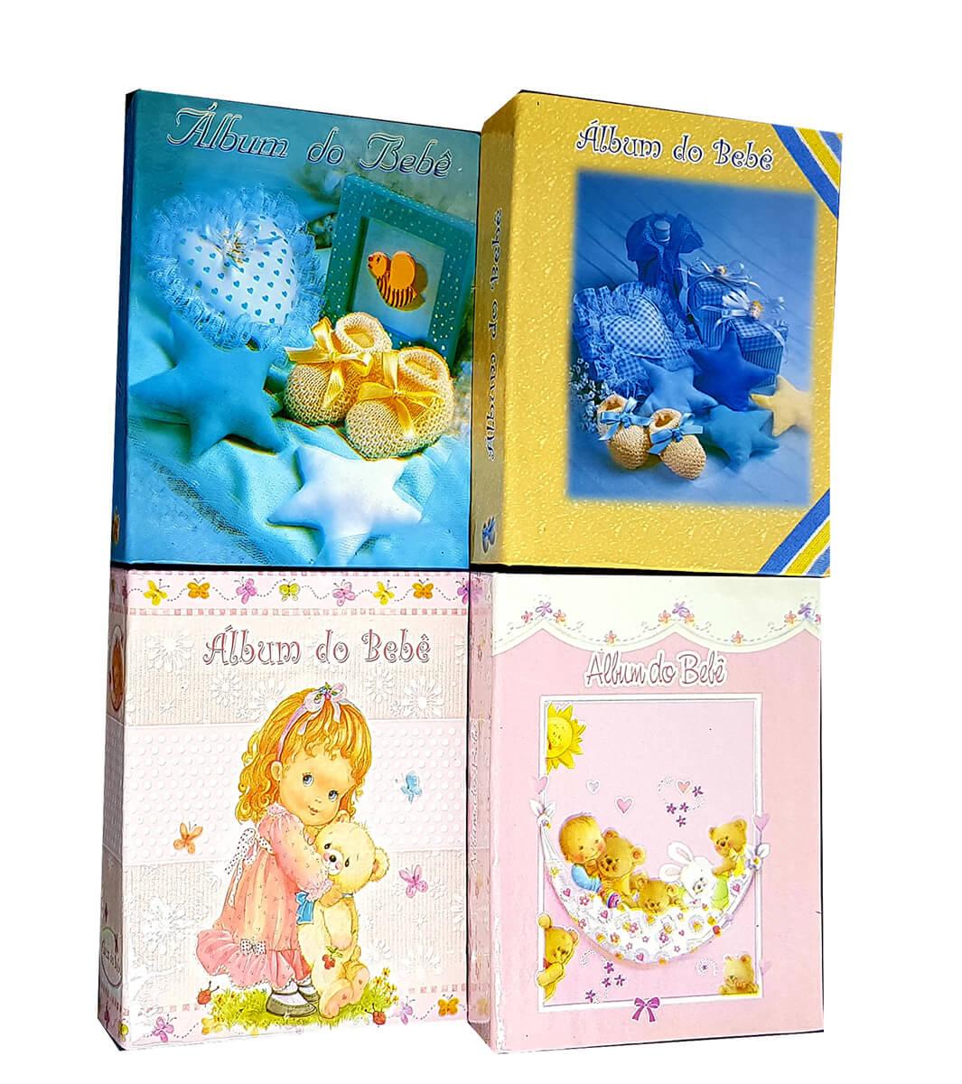 4 Álbuns de fotos bebê Fotografias  10 X15 120 Fotos BEBE W