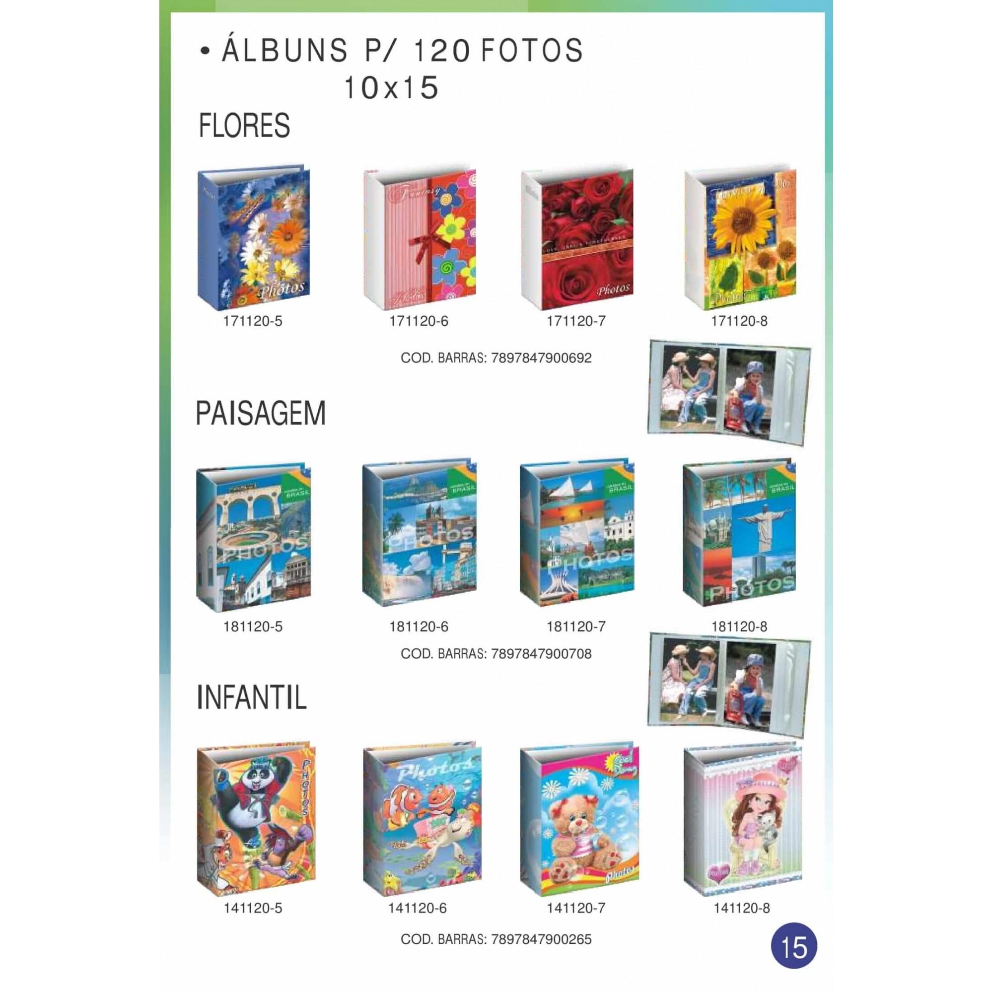 Album De 120 Fotos 10x15 Coração Novo Envio Imediato