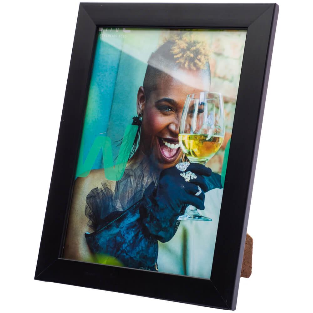 ATACADO - 10 porta retratos 10x15 madeira maciça com vidro varias cores