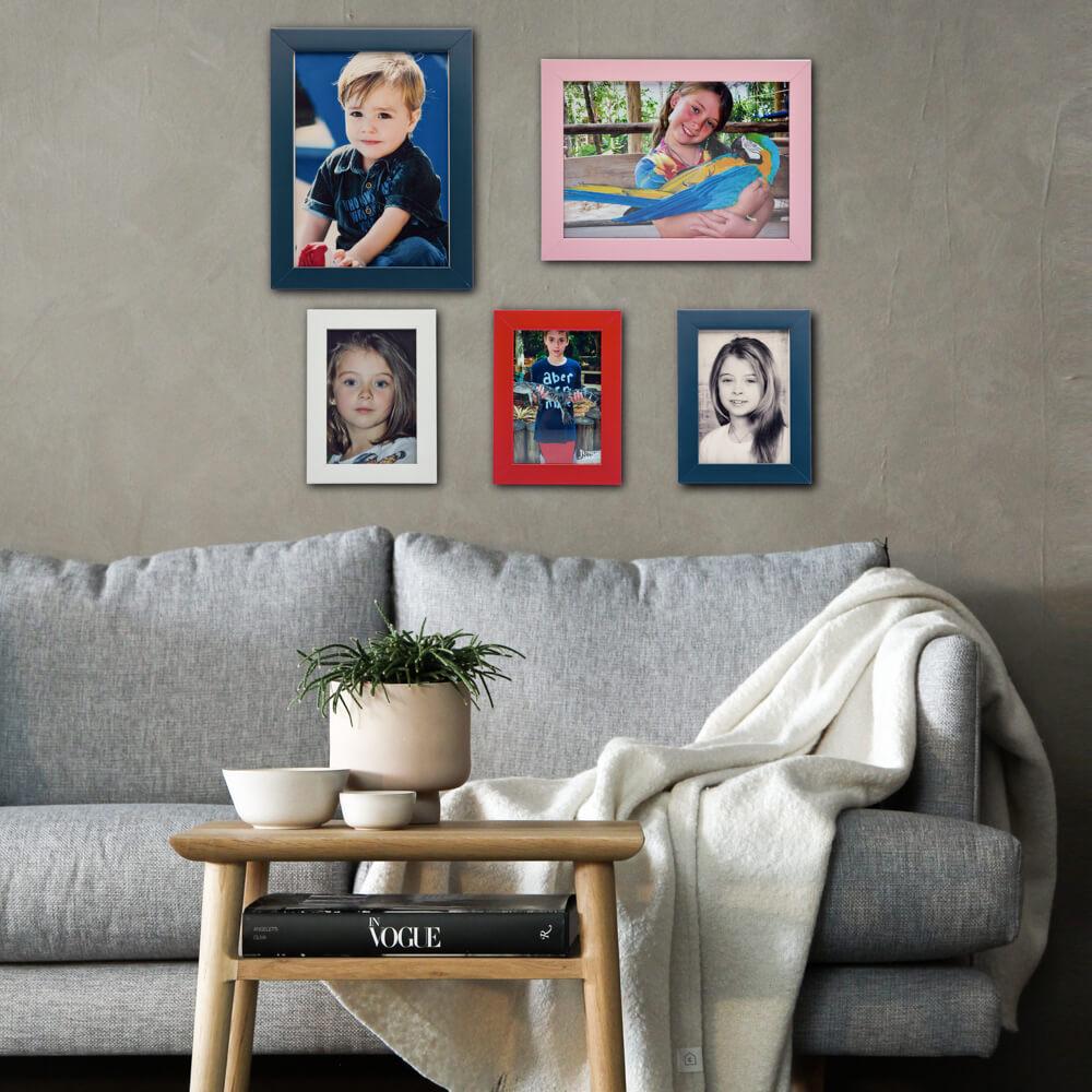 atacado  de 5 porta retratos 15x21 madeira com vidro varias cores