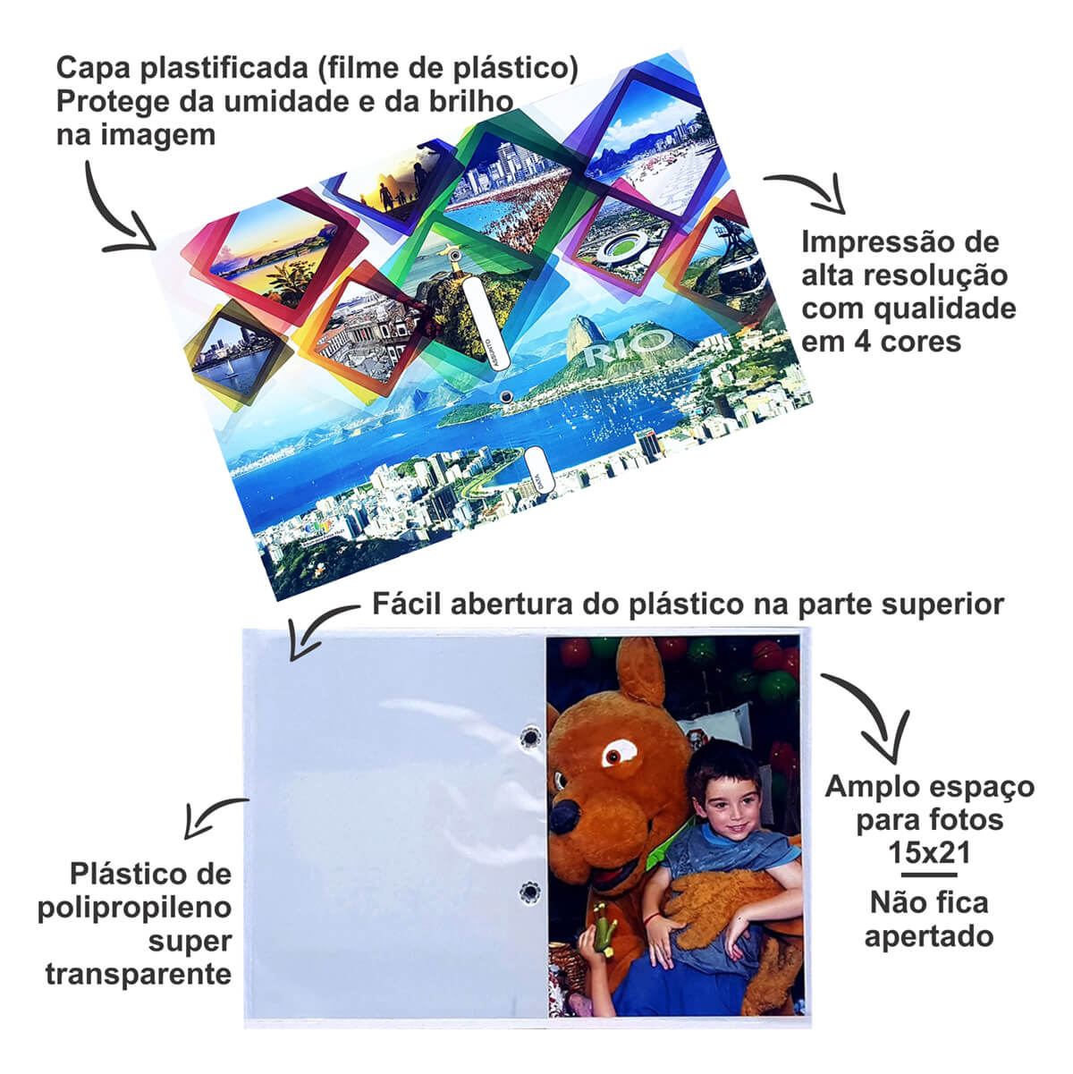 50  albinhos de fotoacabamento Paisagem 15X21/40