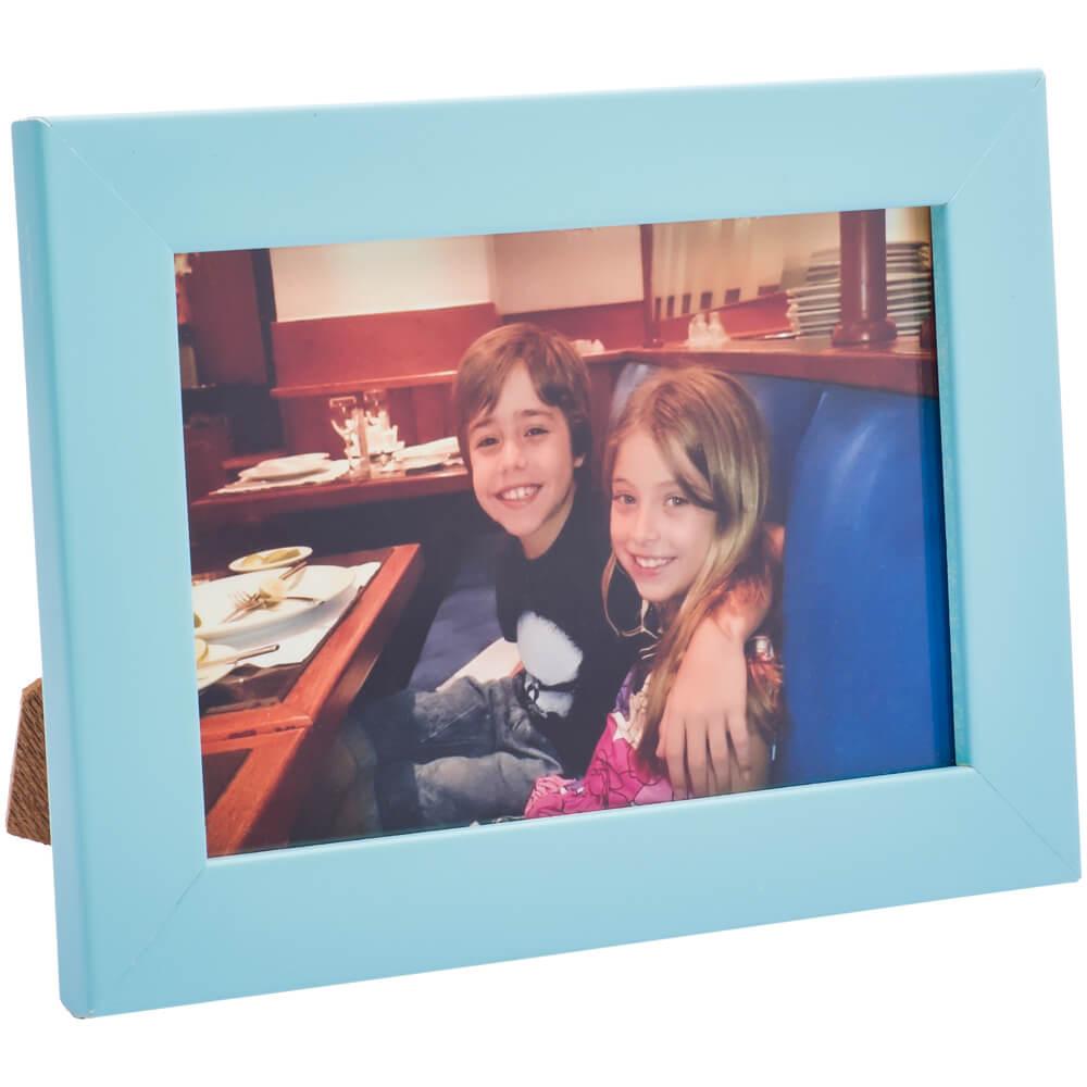 COMBO - 5 porta retratos 10x15 madeira maciça com vidro varias cores