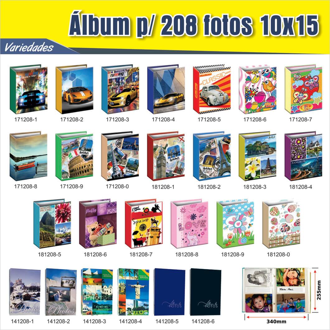 kit  2 albuns  208 fotos 10x15