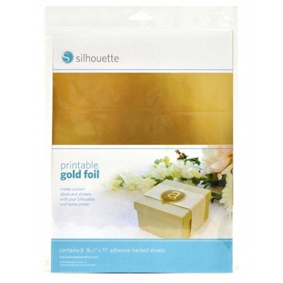 Adesivo Imprimivel Silhouette Dourado 8 Unidades