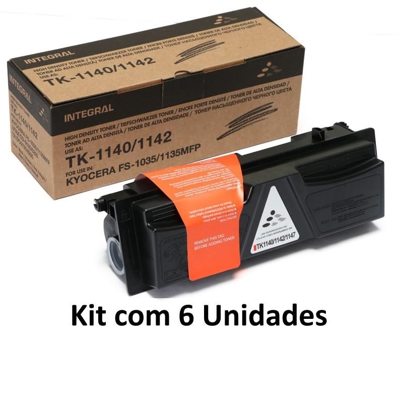 Kit 6 Toner Integral  Tk1147 Tk1140 p/ Kyocera Fs1135 M2035