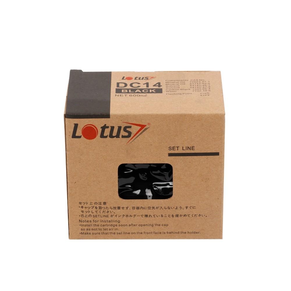 Tinta Compatível Lotus Preto p/ Dup Dig Mod DC14 - 600ml (Kit c/ 4)