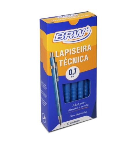 Lapiseira Técnica BRW 0.7mm - Caixa C/ 12un