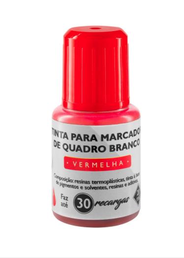 Tinta para Marcador Quadro Branco BRW 20 ml Vermelho c/ 12