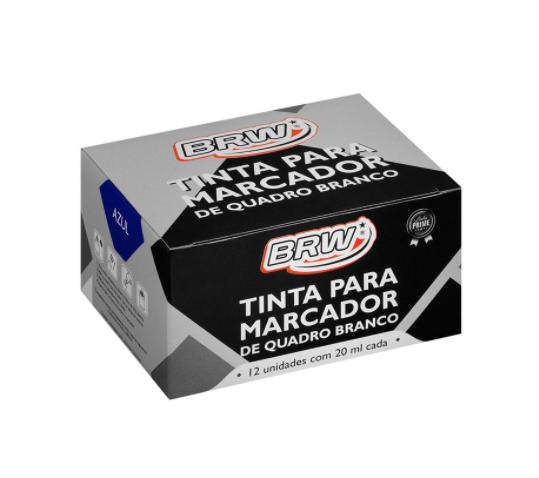 Tinta para Marcador de Quadro Branco BRW Azul cx c/ 12 un