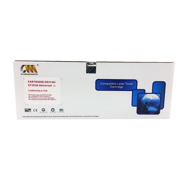 Toner Compatível Chinamate CE311A CF351A Ciano p/ Hp M175 M275