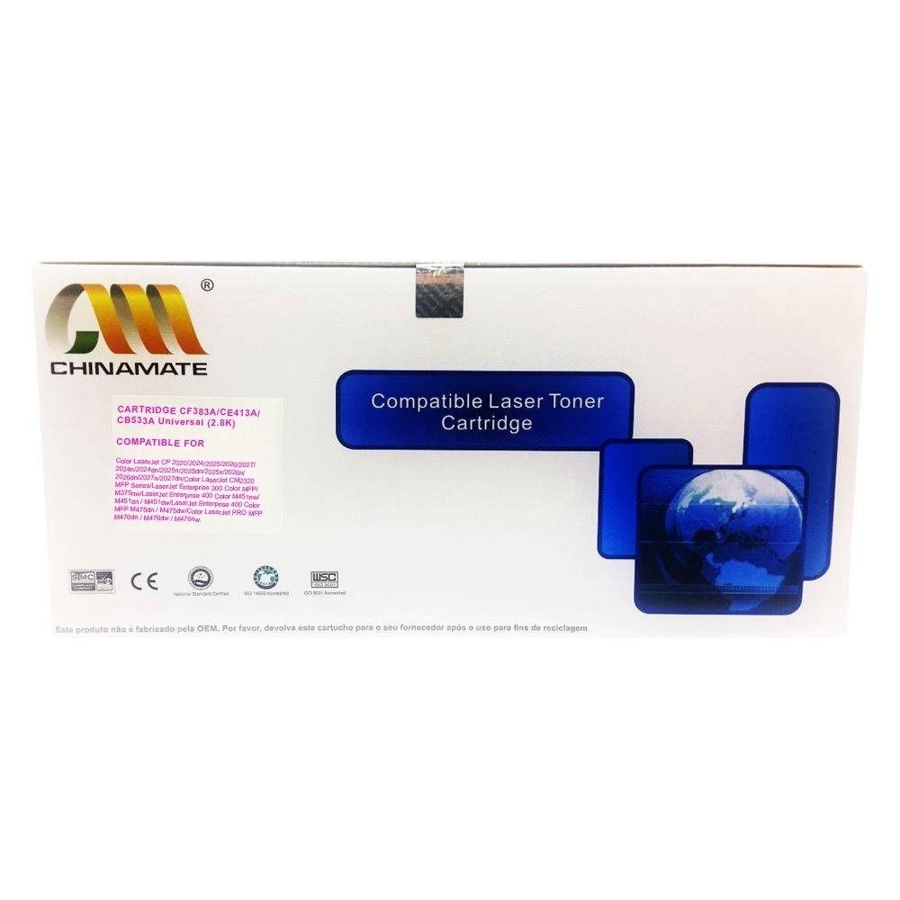 Toner Chinamate Magenta para HP CF383A CE413A CC533A