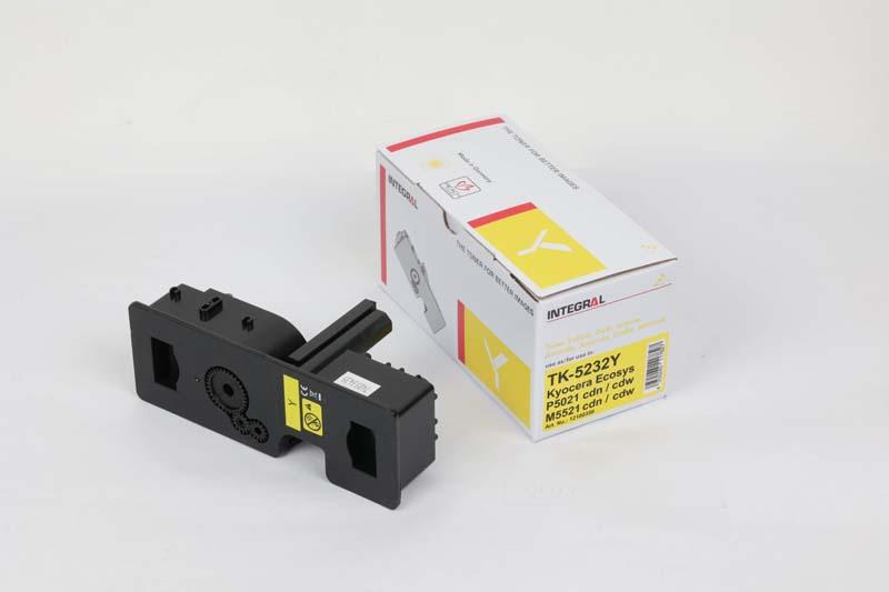 Toner Compatível Integral TK5232 Yellow p/ Kyocera c/chip - 2.2k