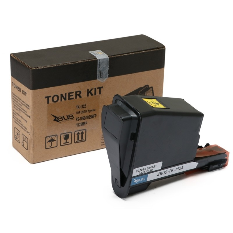 Toner Compatível Zeus TK1122 p/ Kyocera c/chip - 3k (Kit c/ 4)