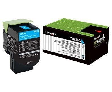 Toner Lexmark 708HC | 70C8HC0 | Ciano para CS310DN | CS510DE