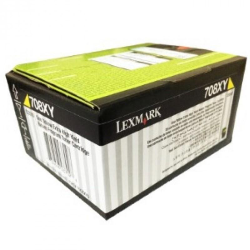 Toner Original 708XY 70C8XY0 Amarelo p/ Lexmark CS510de