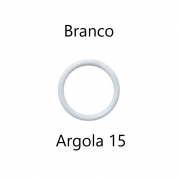 ARGOLA PLASTICA JOWAMA ARC15MM COR BRANCA - 144PC-5616