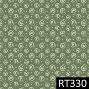 Tecido Tricoline Espiral Verde Fuxicos e Fricotes 1,00 X 1,50m