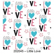 Tecido Tricoline Little Love Fabricart 1,00 x 1,50m