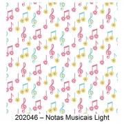 Tecido Tricoline Notas Musicais Light Fabricart 1,00 x 1,50m