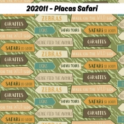 Tecido Tricoline Placas Safari Fabricart 1,00 x 1,50m