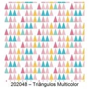 Tecido Tricoline Triângulos Multicolor Fabricart 1,00 x 1,50m