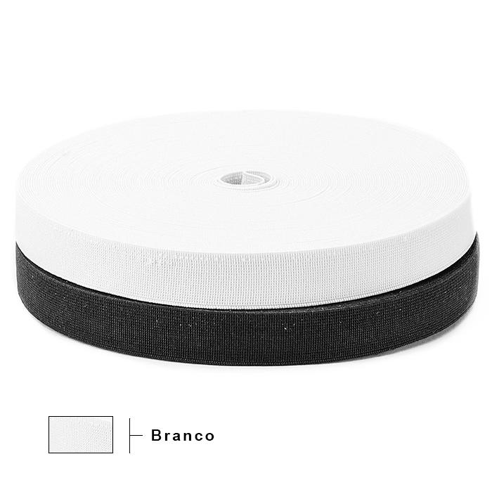 Elástico Reforçado Branco 2120 20mm São José 25m