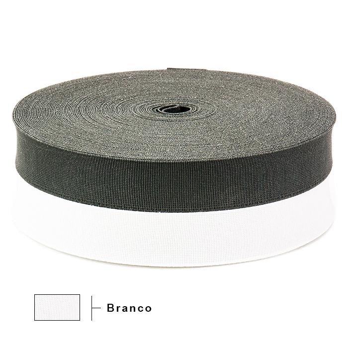 Elástico Reforçado Branco 2135 35mm São José 25m