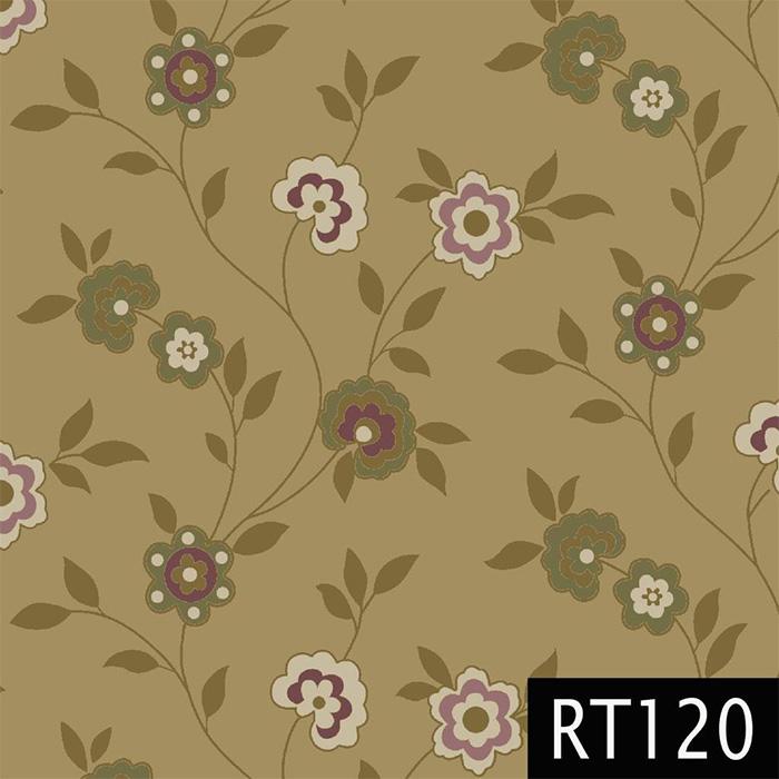 Tecido Tricoline Floral Tons de Bege Fuxicos e Fricotes 1,00 X 1,50m