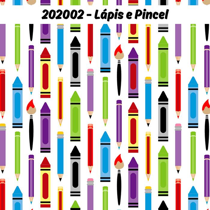 Tecido Tricoline Lápis e Pincel Fabricart 1,00 x 1,50m