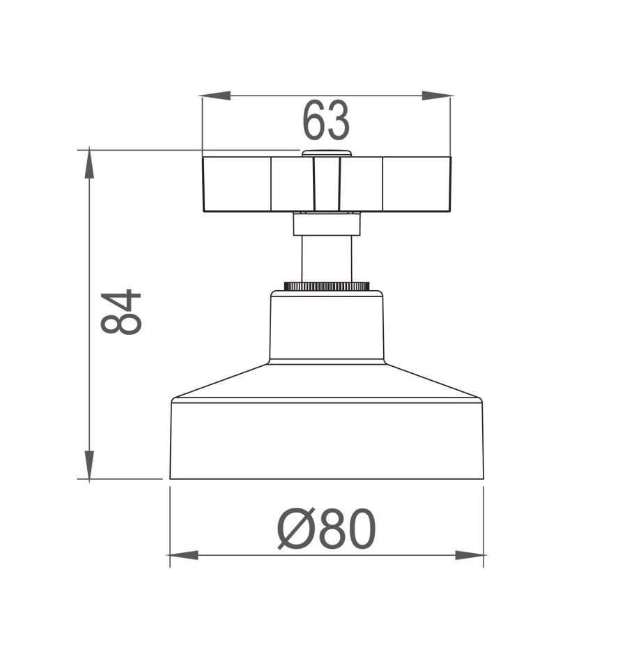 """Acabamento Para Registro de Gaveta Base 4900 C47 1.1/4"""" e 1.1/2"""""""
