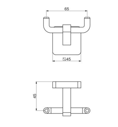 Cabide Like Square Duplo - Cromado 12131410