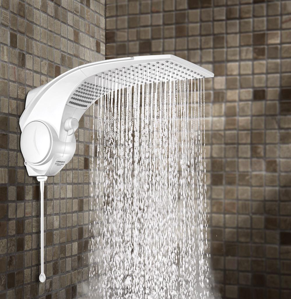 Ducha Duo Shower Quadra Eletrônica 127V/220V - Branco