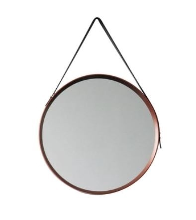 Espelho Acobreado Com Cinta De Suspensão