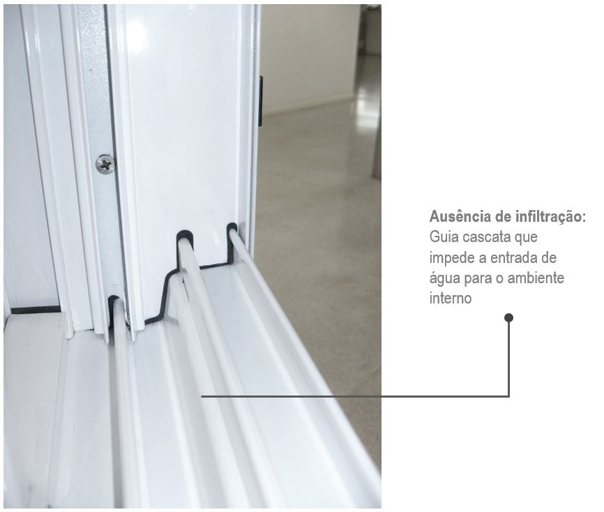 Janela de Correr 2 Folhas Alumifort 100x150