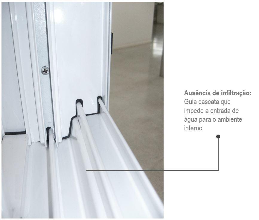 Janela de Correr 4 Folhas Alumifort 100x200
