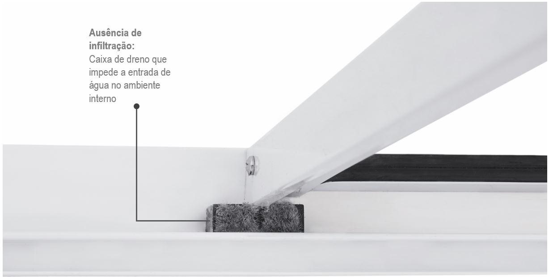 Janela de Correr Alumislim 4 Folhas com Grade Horizontal 100x150