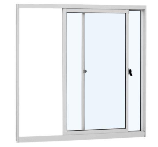 Janela de Correr sem Grade Alumínio 2 Folhas 100x120Cm - Branco