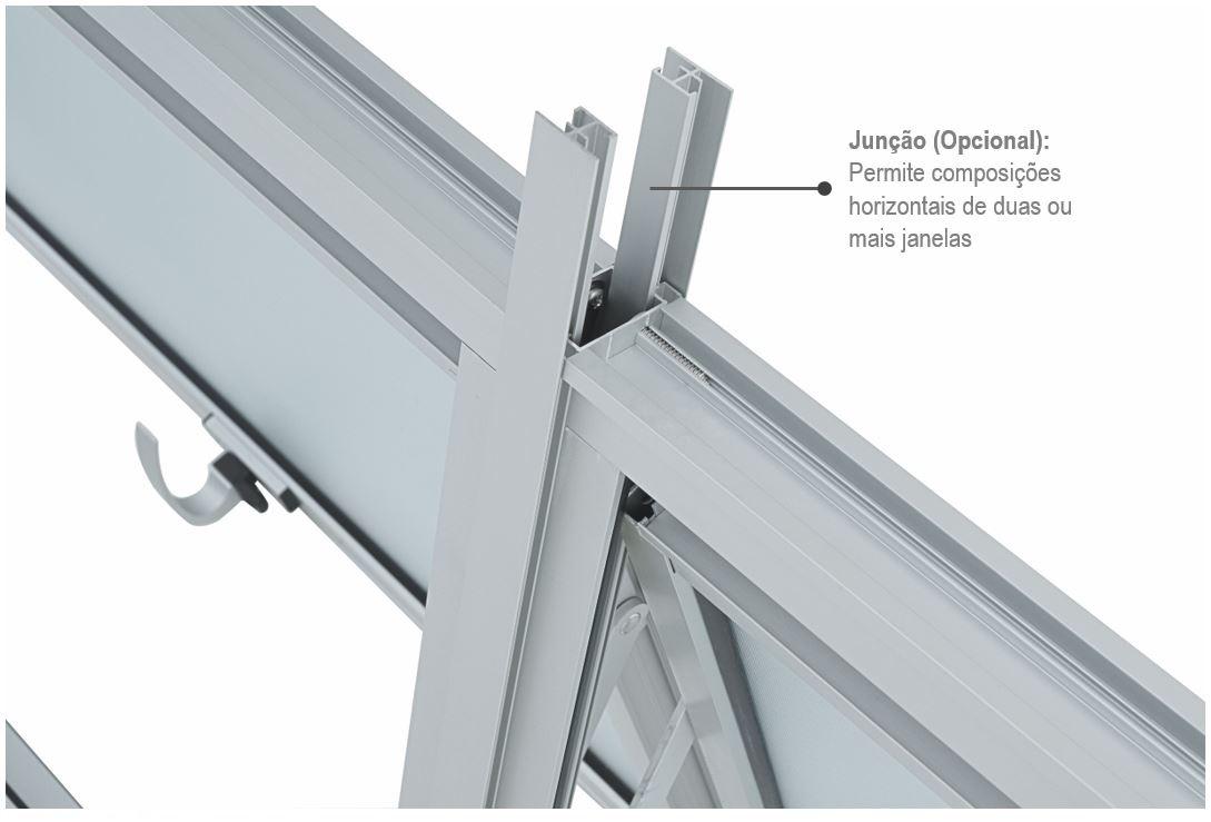 Janela Maxim-Ar Alumifort com Grade 60x80