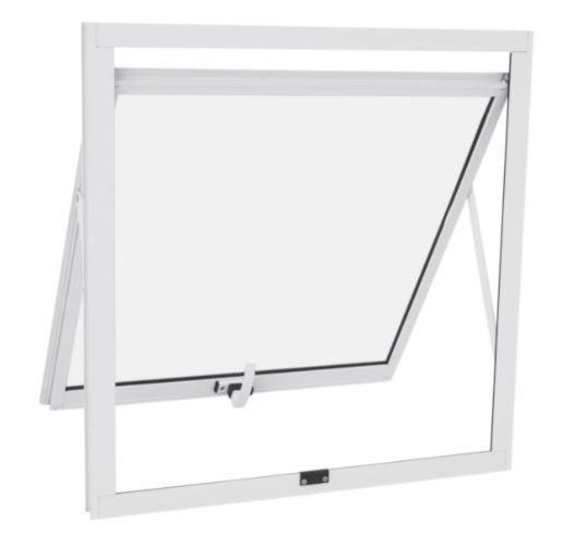 Janela Maxim-ar Alumínio sem Grade 60x60Cm - Branco