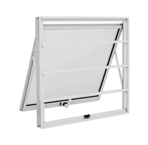 Janela Maxim-Ar Grade Horizontal 60x60Cm - Branco