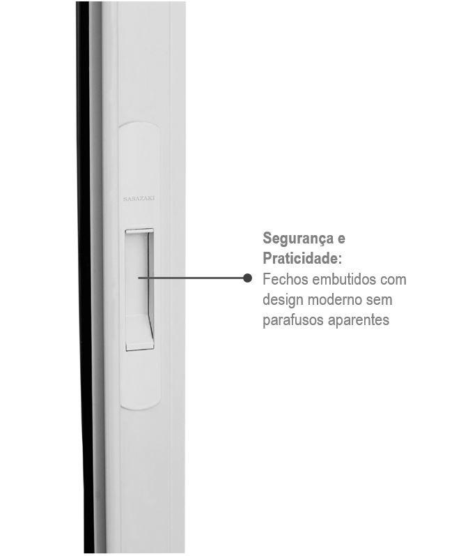 Janela Veneziana Alumifort 3 Folhas Móveis 100x150