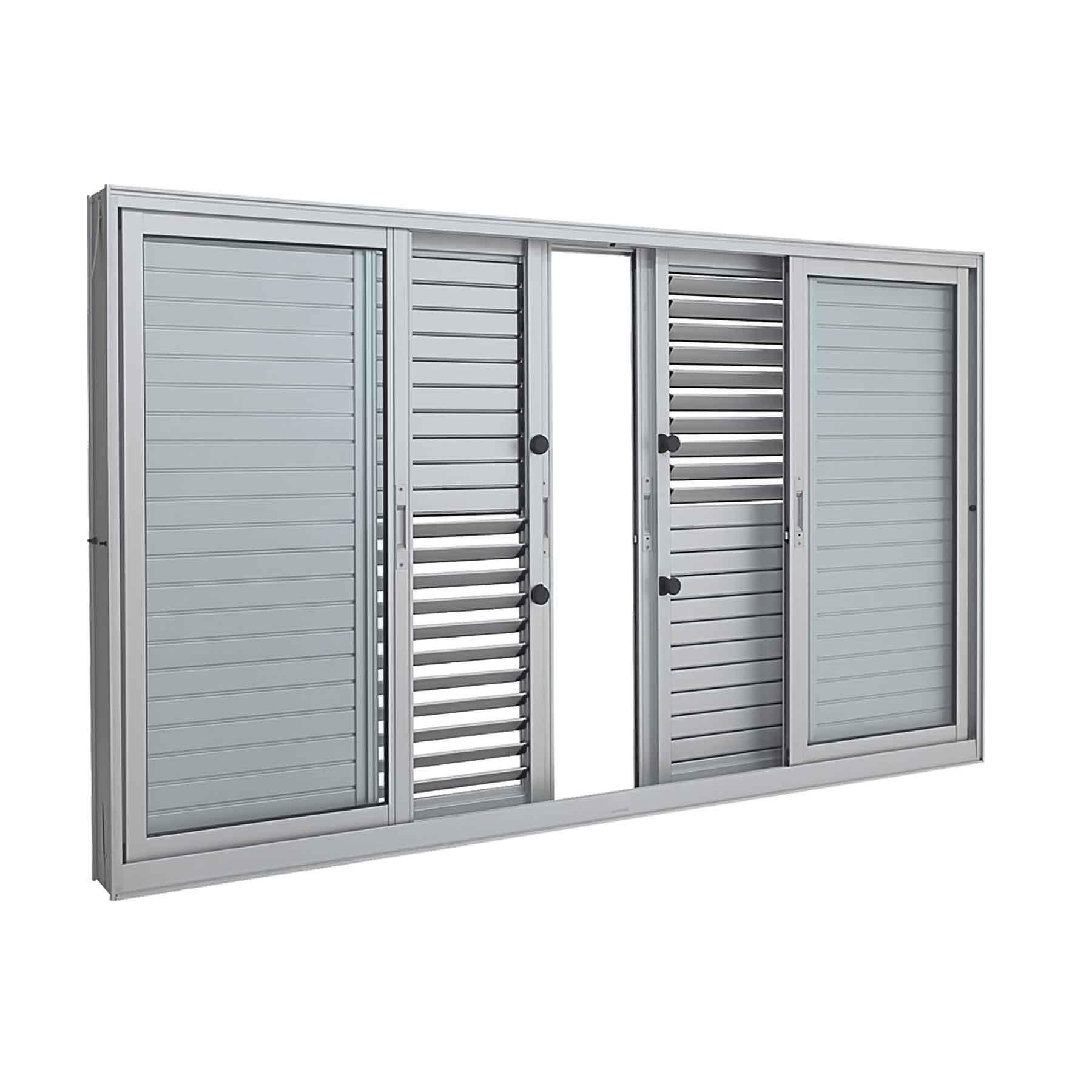 Janela Veneziana Multiflex Aluminium 6 Folhas 100x150 - INATIVO